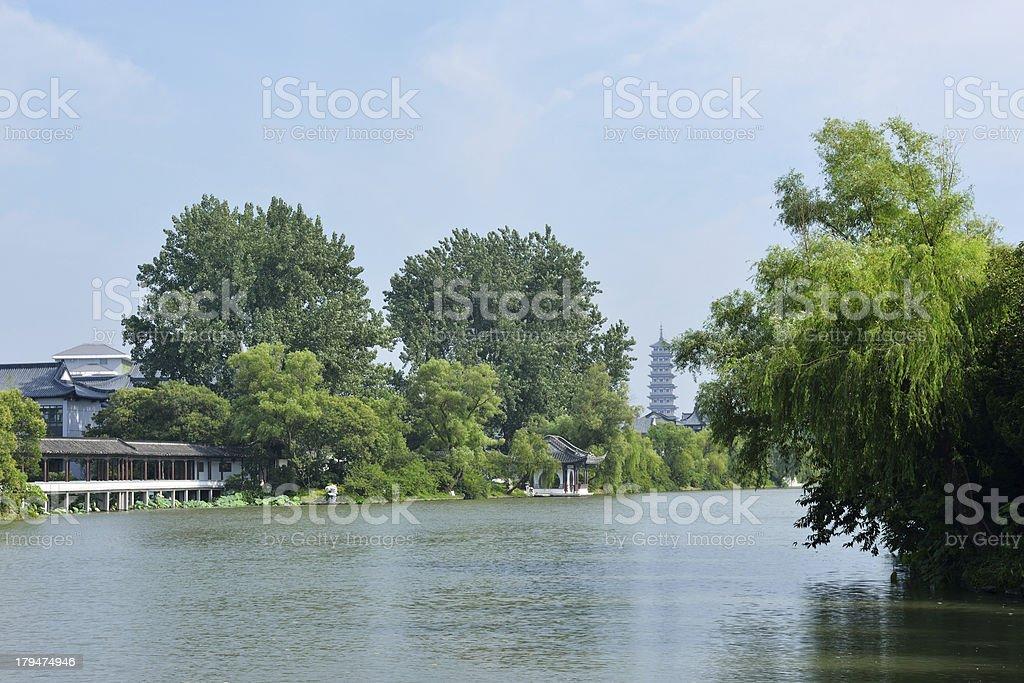 Lake View in Yangzhou stock photo