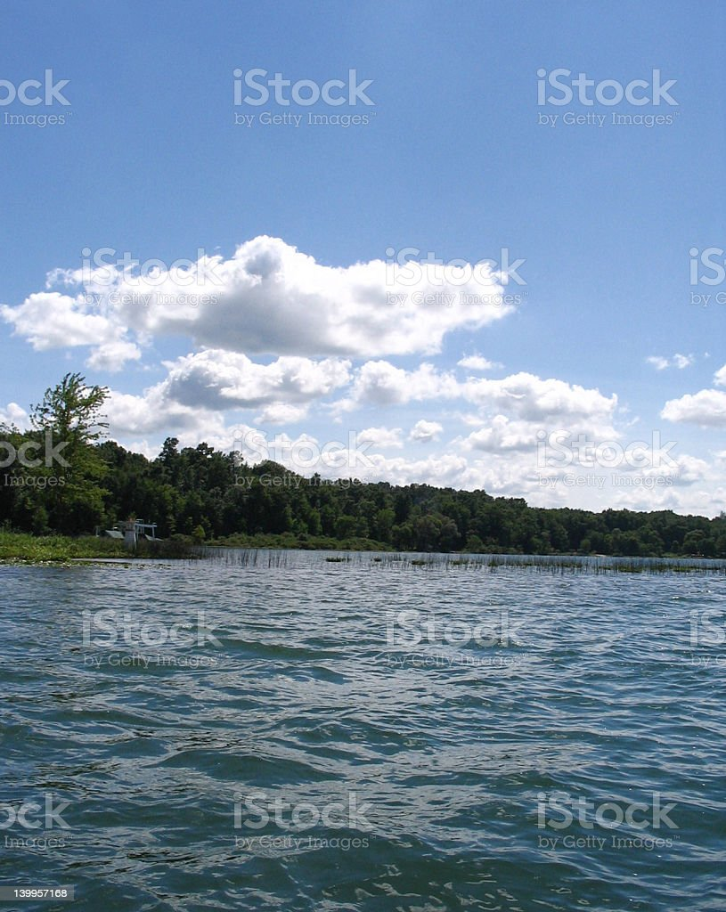 Lake view stock photo