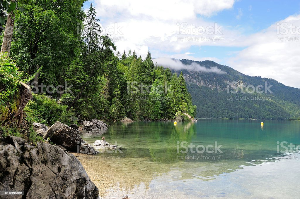 Lake View to Eibsee royalty-free stock photo