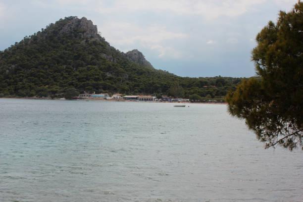 Lake Vouliagmeni near Loutraki Greece stock photo