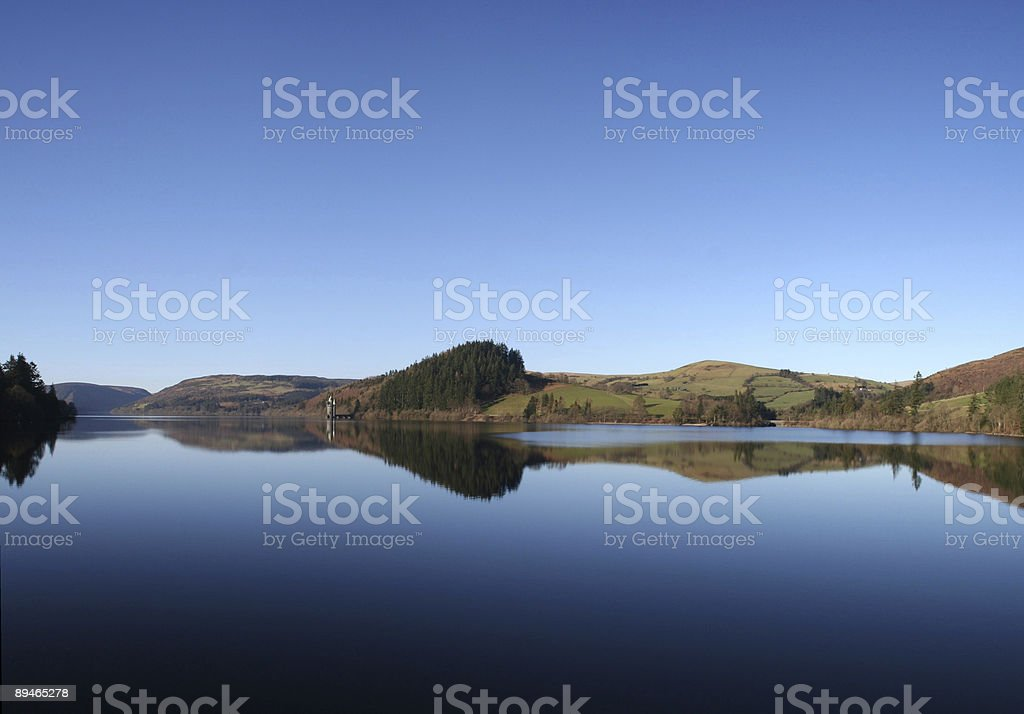 Lake Vyrnwy royalty-free stock photo
