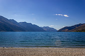 Lake Wakatipu on a free Campground outside of Queenstown, New Zealand.