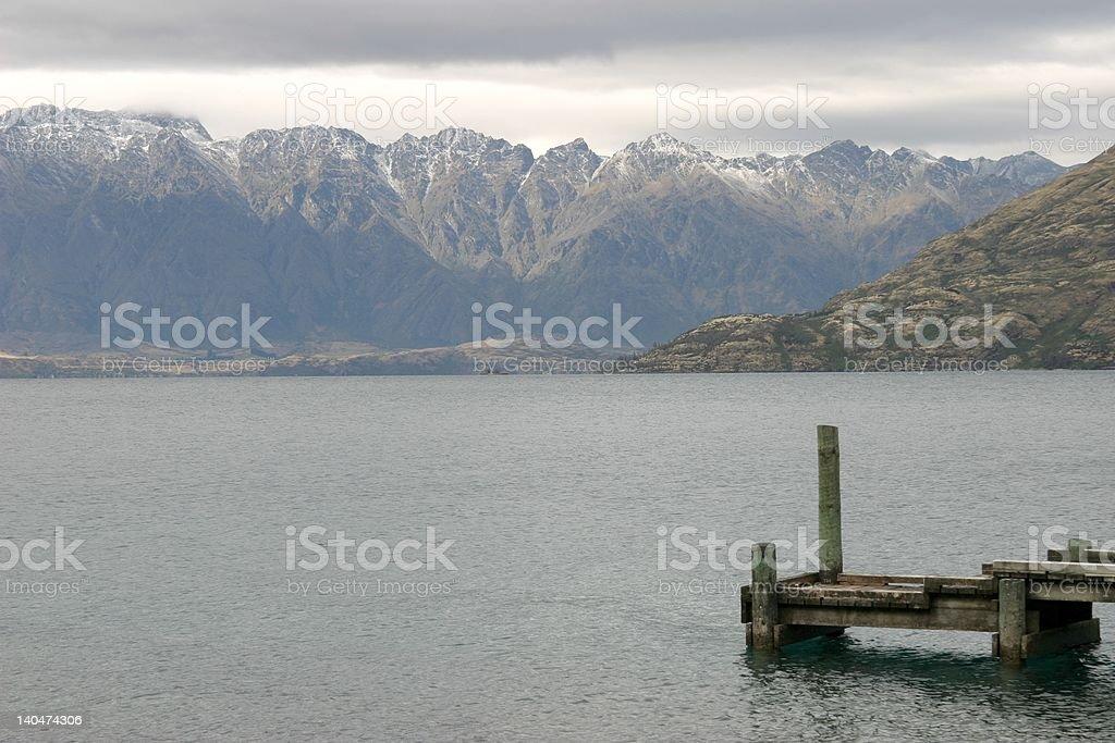 lake Wakatipu royalty-free stock photo