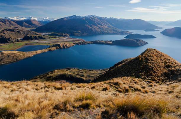 Lake Wanaka And The Southern Alps stock photo