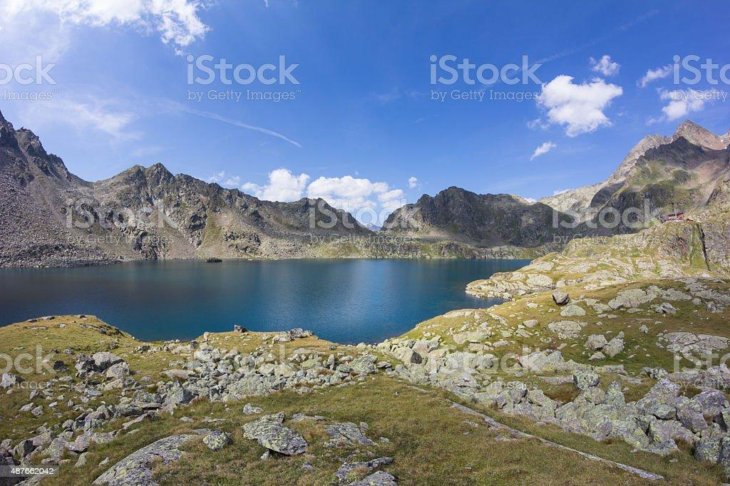 Lake Wangenitzsee Biggest Mountain Lake In Carinthia At 2.500m stock photo