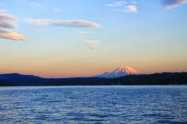 Lake Washington in Summer stock photo