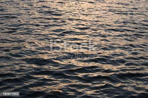 Golden light from a sunset hitting lake waters.Similar photo: