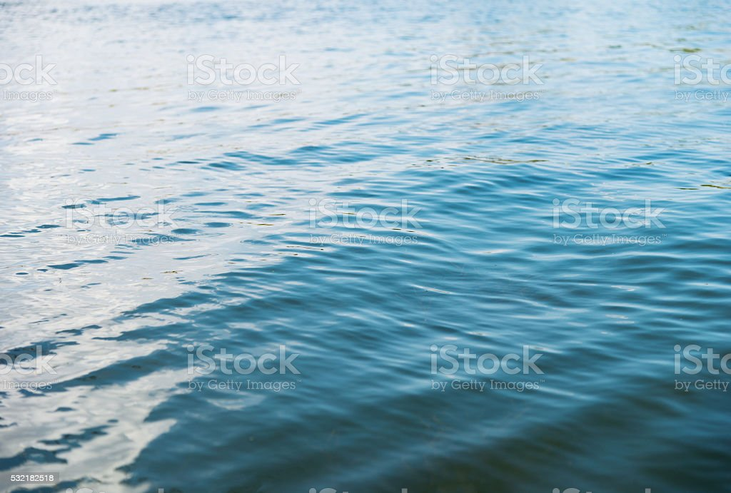 Lake water with ripples stock photo