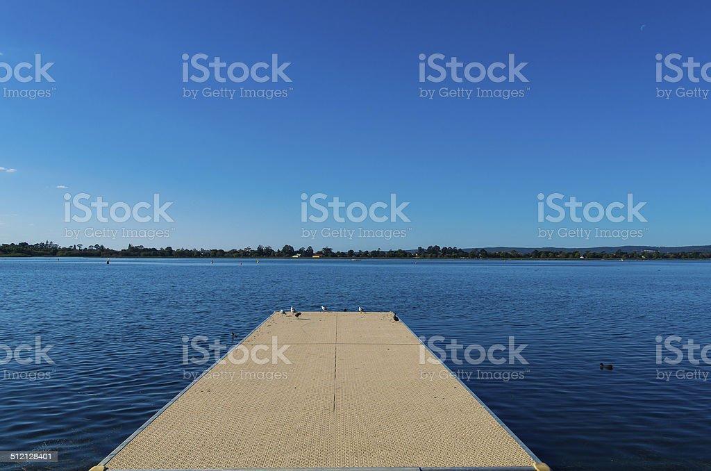 Lake Wendouree in Ballarat stock photo
