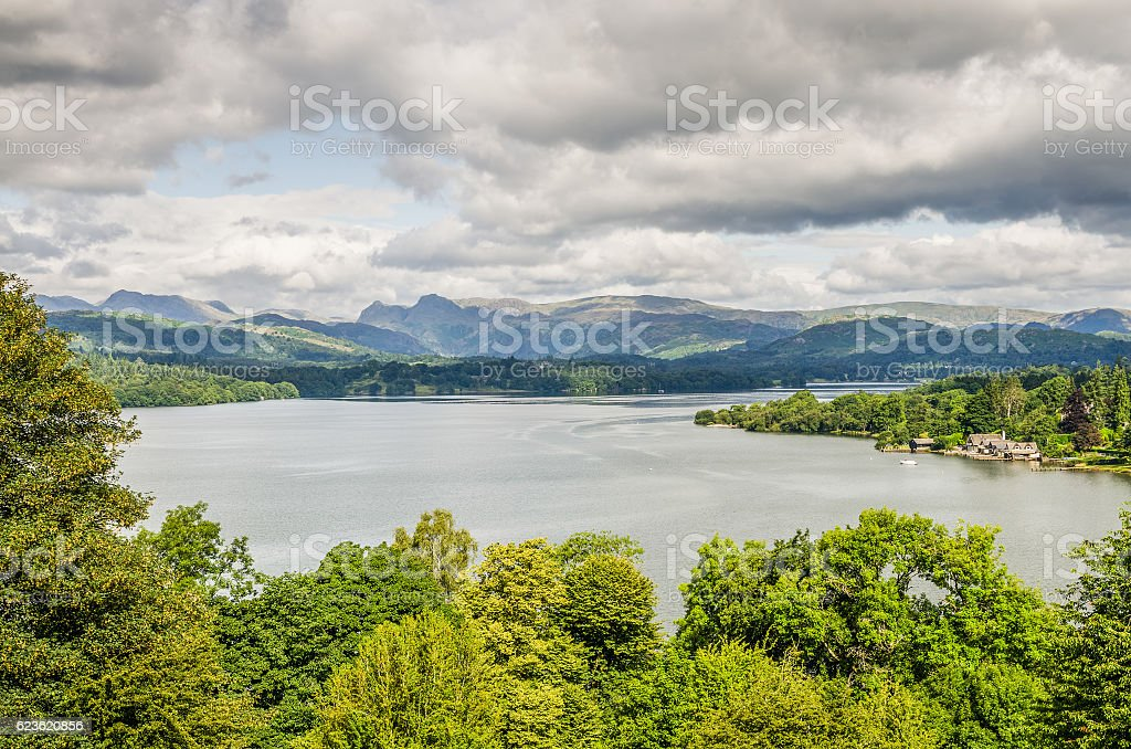 Lake Windermere from the South stock photo