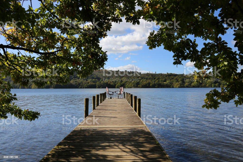 Lake Windermere - Lake District - England stock photo