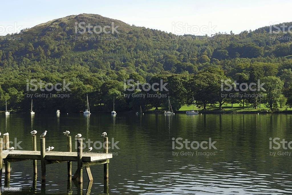 Lake Windermere view royalty-free stock photo