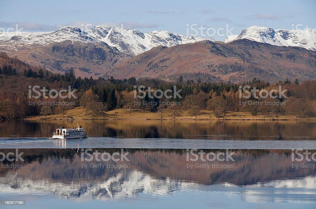 Lake Windermere Winter stock photo