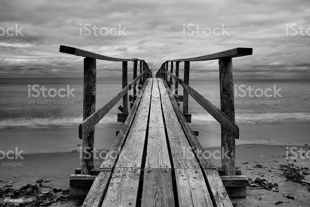 Lake Winnipeg Dock stock photo