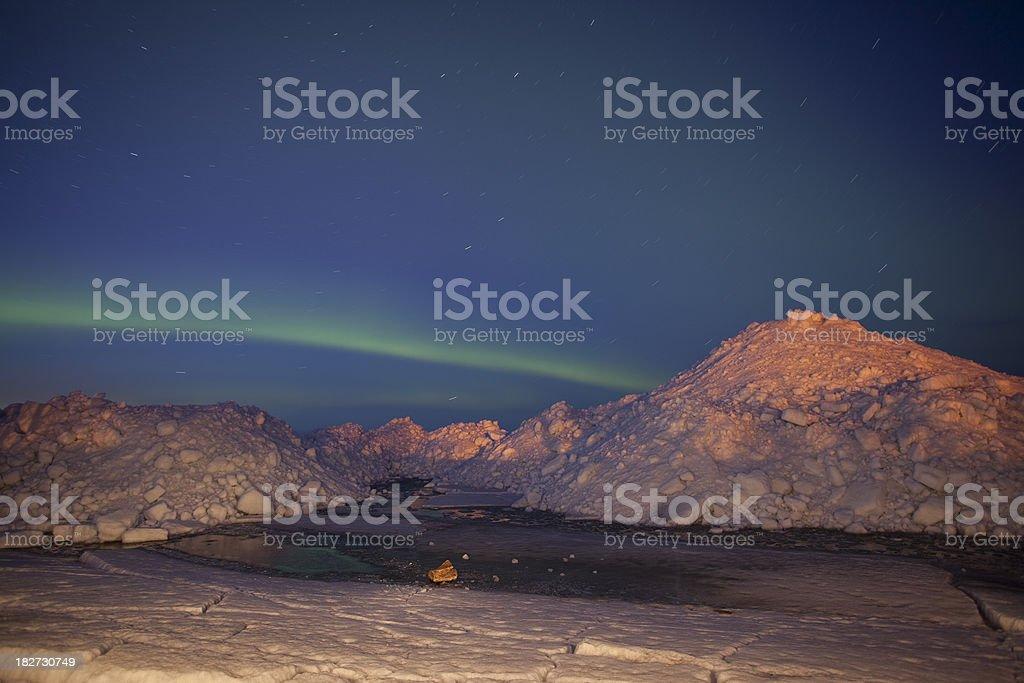 Lake Winnipeg Northern Lights Manitoba royalty-free stock photo