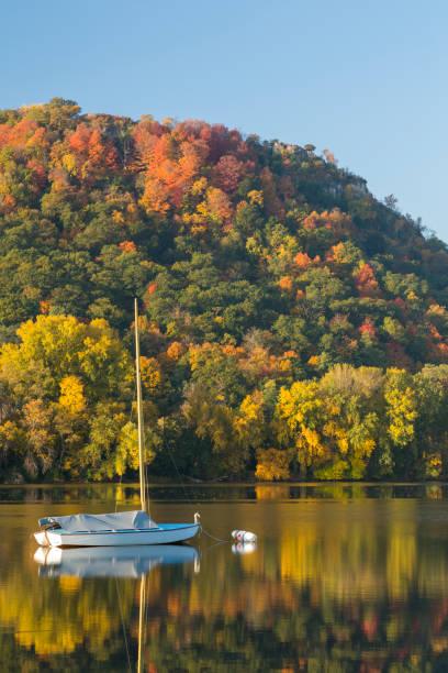 Lake Winona In Autumn stock photo