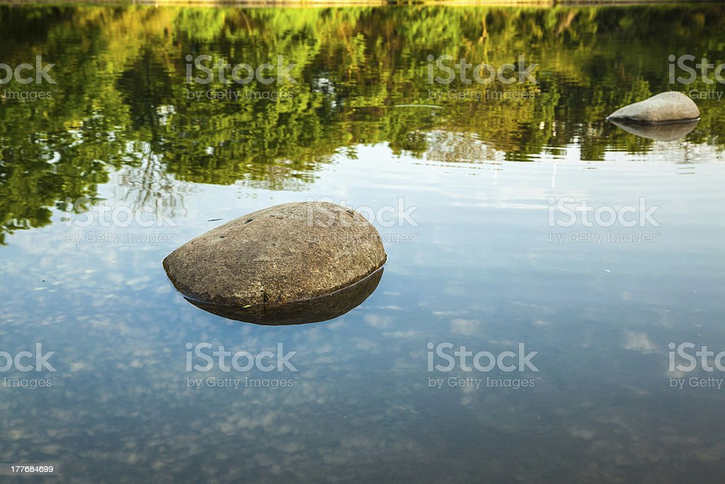 lake with blue sky royalty-free stock photo