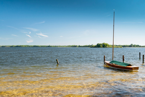 Lake With Boat Stock Photo - Download Image Now