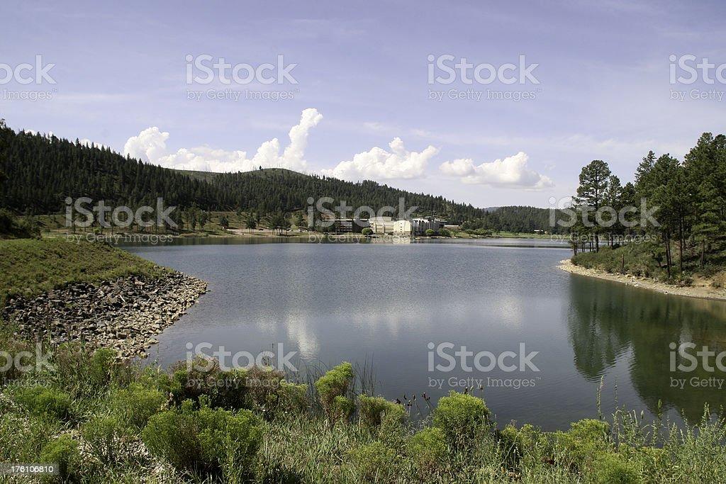 Lake with Casino royalty-free stock photo