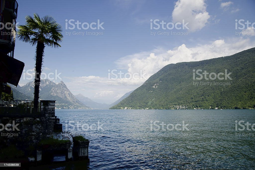Lake with mountains royalty-free stock photo