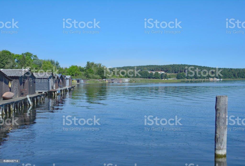Lake Woblitzsee,Wesenberg,Mecklenburg Lake District,Germany stock photo