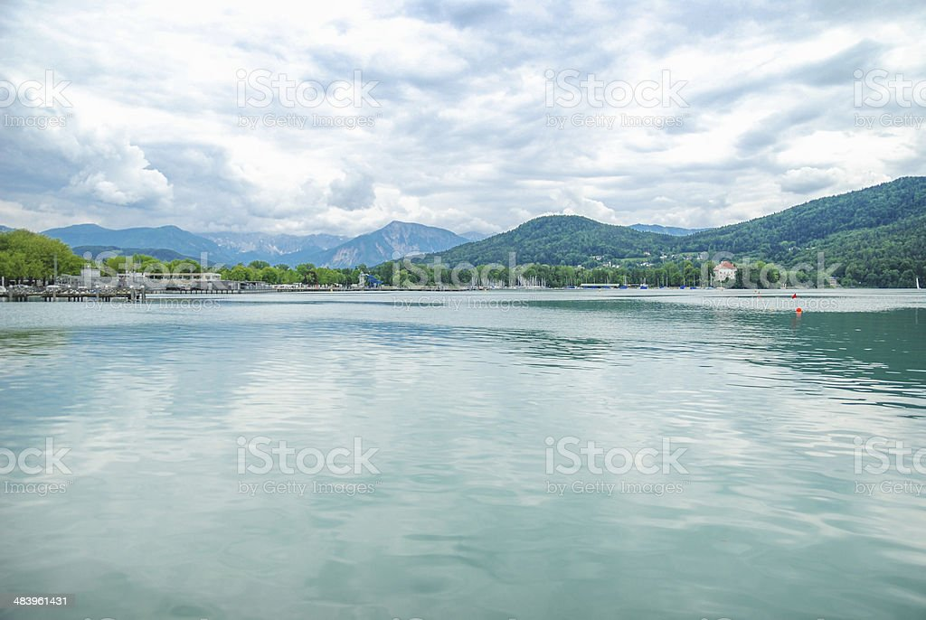 Lake Woertheree Austria, Carinthia stock photo