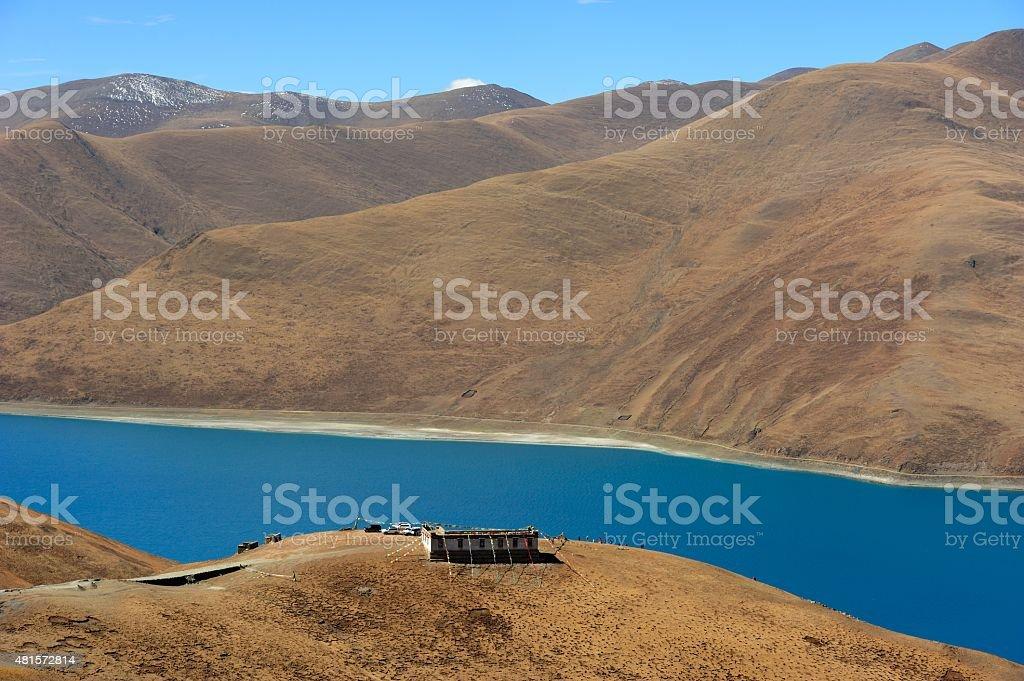 Lake Yamzho Yumco 05 stock photo