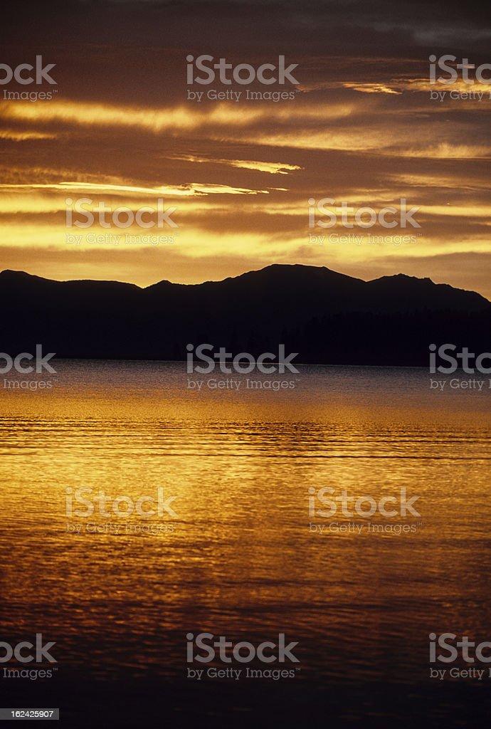 Lake Yellowstone Morning royalty-free stock photo