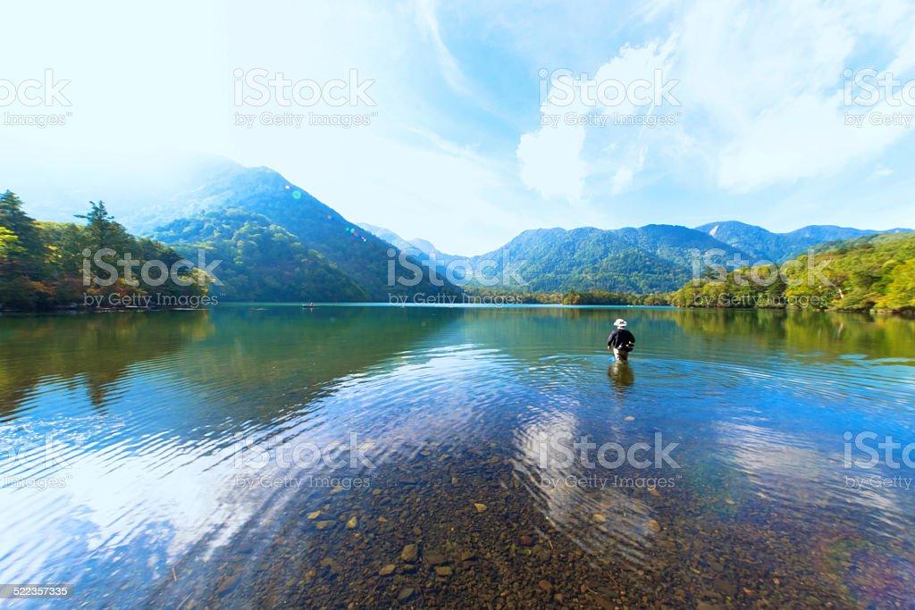 Lake Yunoko stock photo