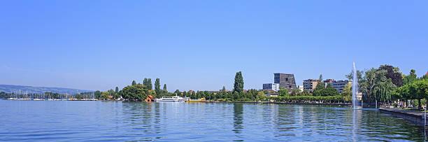 Lake Zug and Zug city Switzerland, lake Zug and Zug city zug stock pictures, royalty-free photos & images