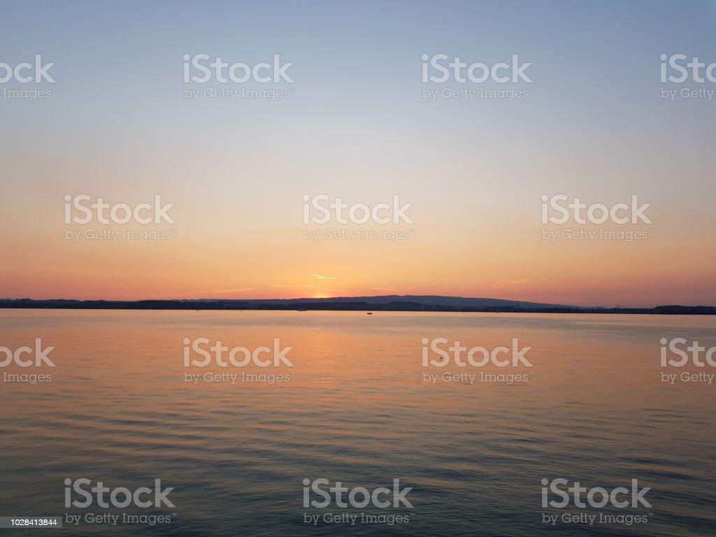 Lake Zug Sunset stock photo