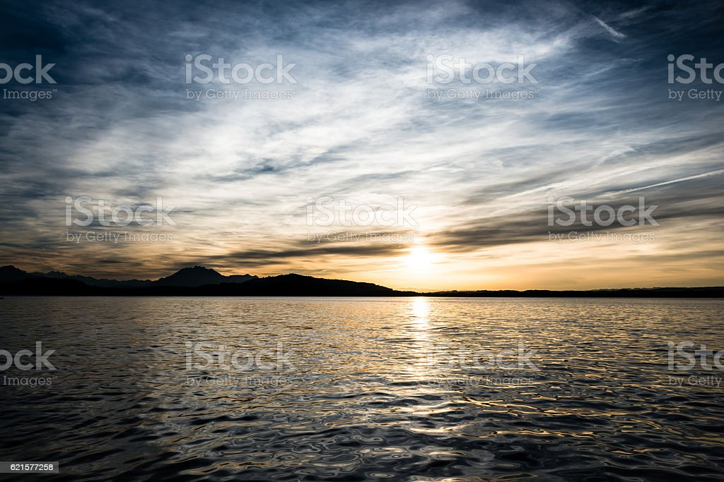 Lake Zug, Switzerland. photo libre de droits