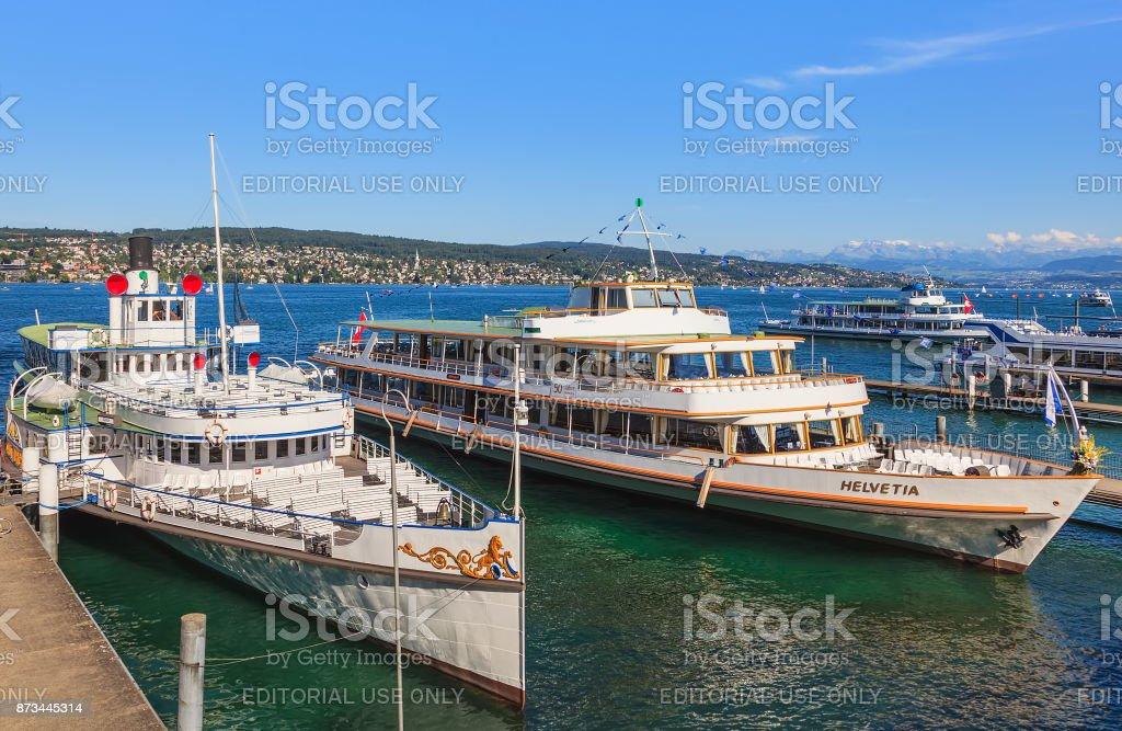 Lake Zurich in Switzerland stock photo
