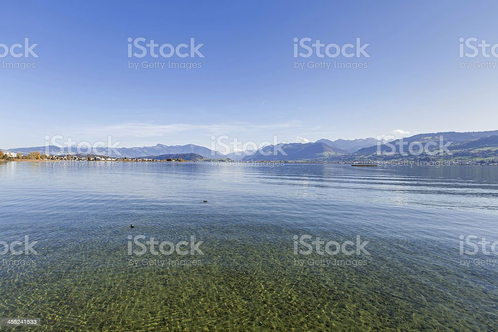 Lake Zurich - Obersee stock photo