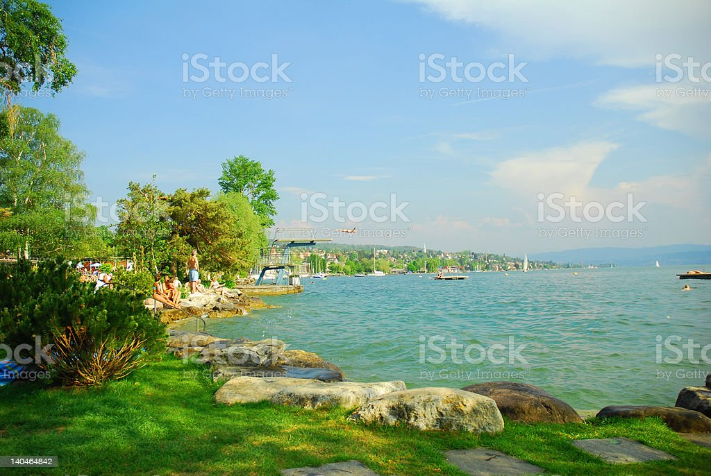 Lake Zurich royalty-free stock photo