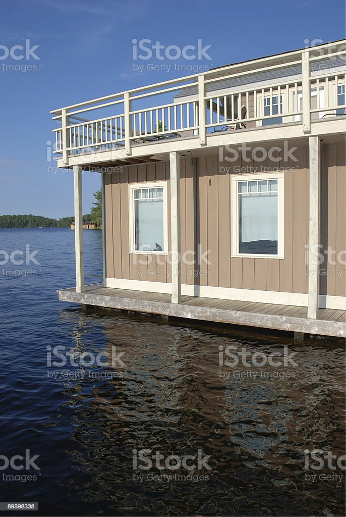 Lakefront home royalty-free stock photo