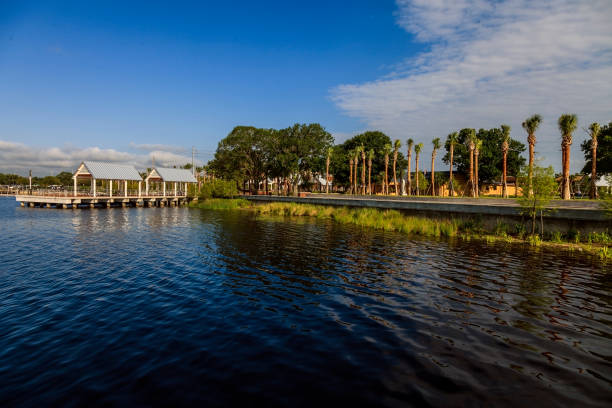 "lakefront park overlooking lake ""toho"" in kissimmee, florida - kissimmee stock photos and pictures"