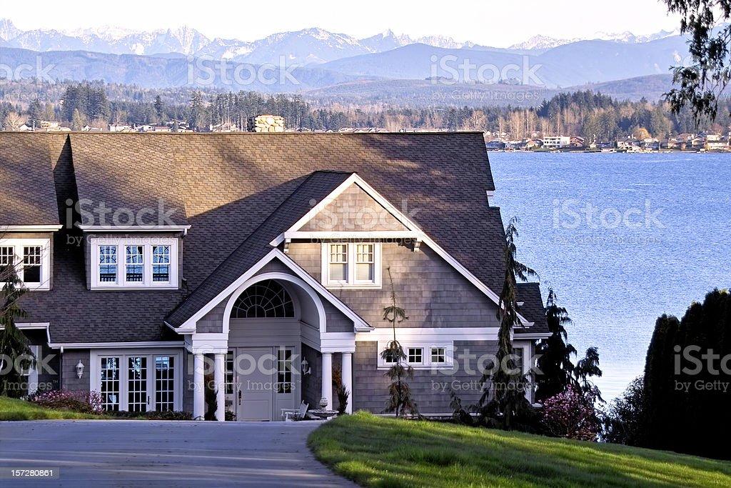 Lakefront Property stock photo