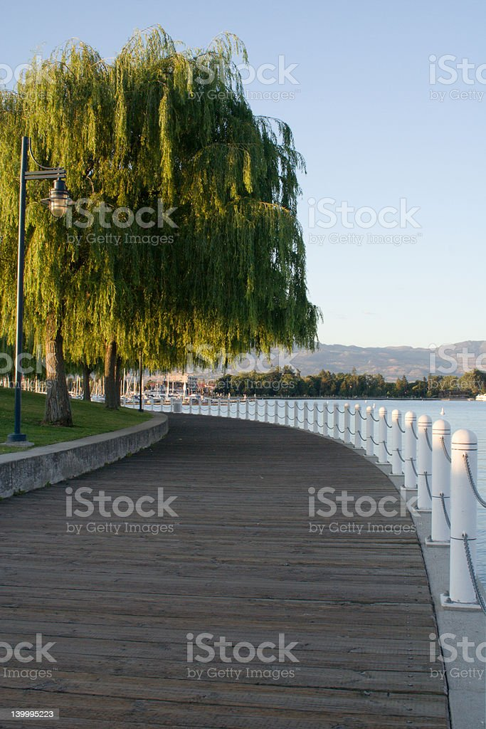 Lakefront walkway royalty-free stock photo
