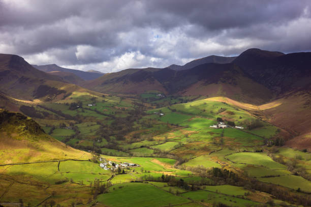 Lakeland Fells Near Keswick, England stock photo