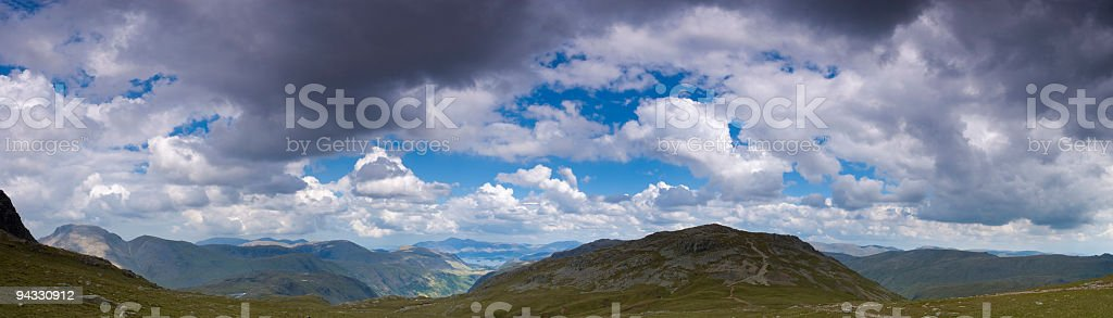 Lakeland vista, big skies royalty-free stock photo