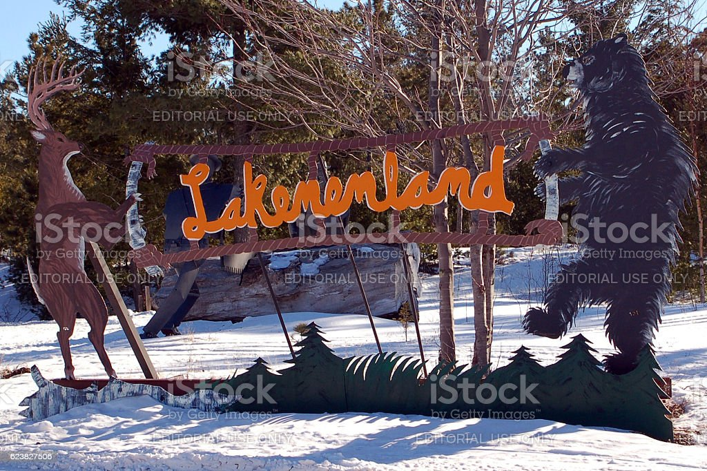 Lakenenland Sign stock photo