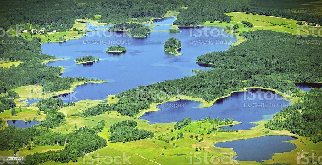 Lakes Aerial stock photo
