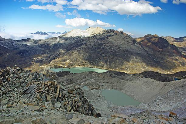 Lakes and mountains stock photo