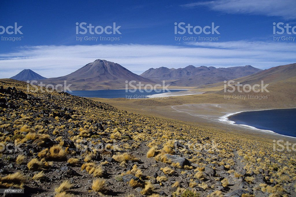 Lakes and Volcanos stock photo
