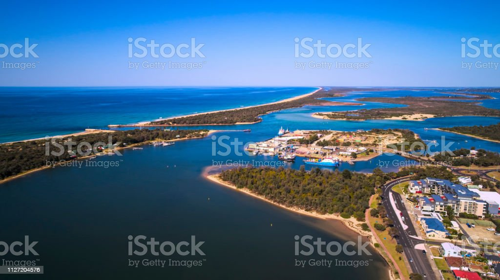Lakes Entrance - Royalty-free Aerial View Stock Photo
