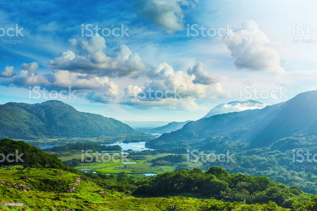 Lakes of Killarney along the Ring of Kerry, County Kerry, Ireland stock photo