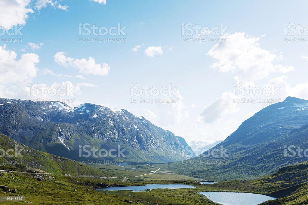 Lakes on the top of mountains, Norway royalty-free stock photo