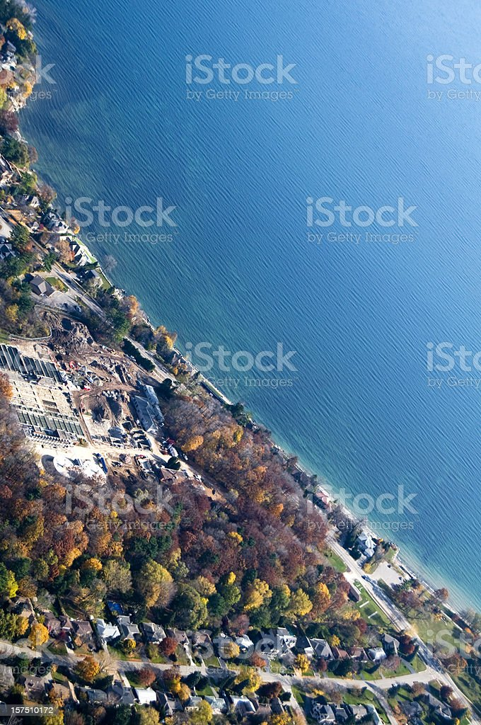 Lakeshore Aerial View stock photo