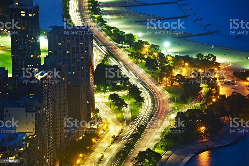 Lakeshore Dr Chicago royalty-free stock photo